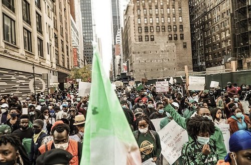 #EndSARS protest in New York NYC